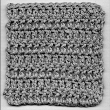 Šibična petlja / double crochet stitch